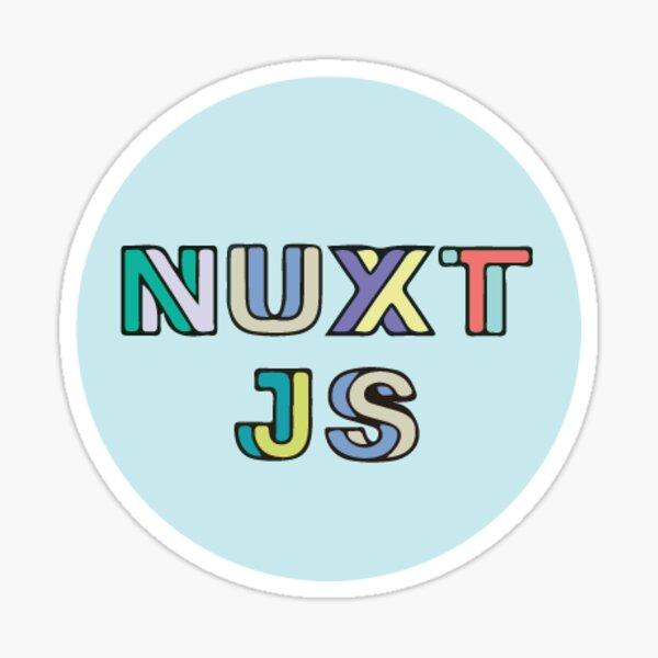 Nuxt Js Light Blue (Small) Sticker