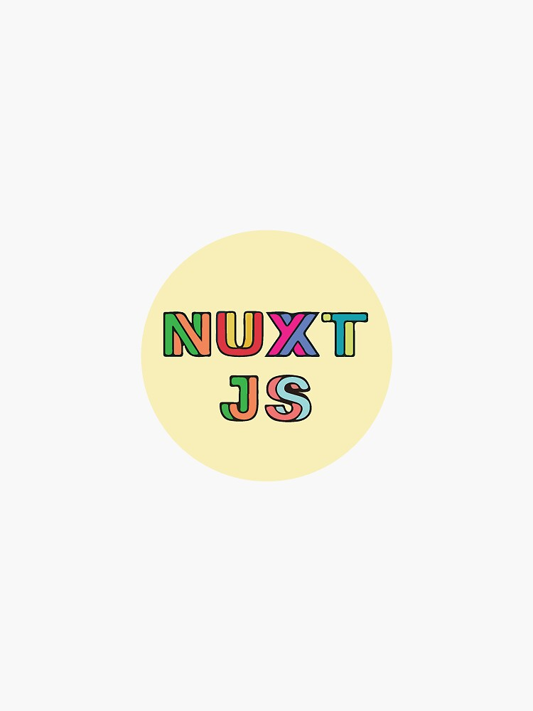 Nuxt Js Yellow (Small) by krutie