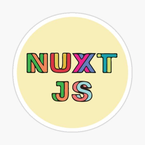 Nuxt Js Yellow (Small) Sticker