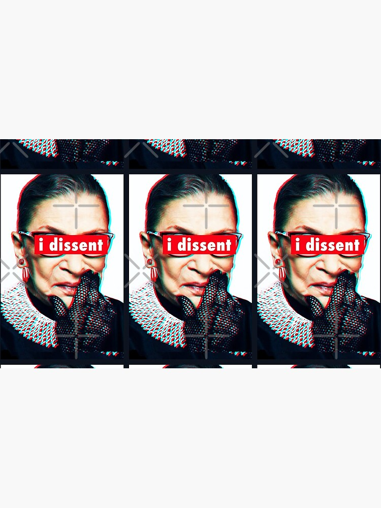 Ruth Bader Ginsburg I Dissent 3d by Thelittlelord