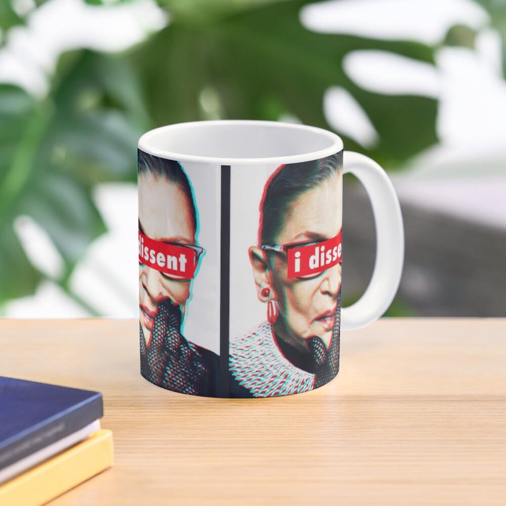 Ruth Bader Ginsburg I Dissent 3d Mug