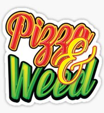 Pizza and Weed Sticker
