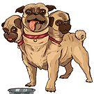 Netter Mops-Hund Cerberus von PathOfPixels