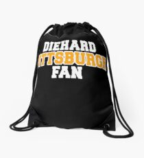 Die Hard Pittsburgh Fan Sports Gift Apparel Decal Team Drawstring Bag