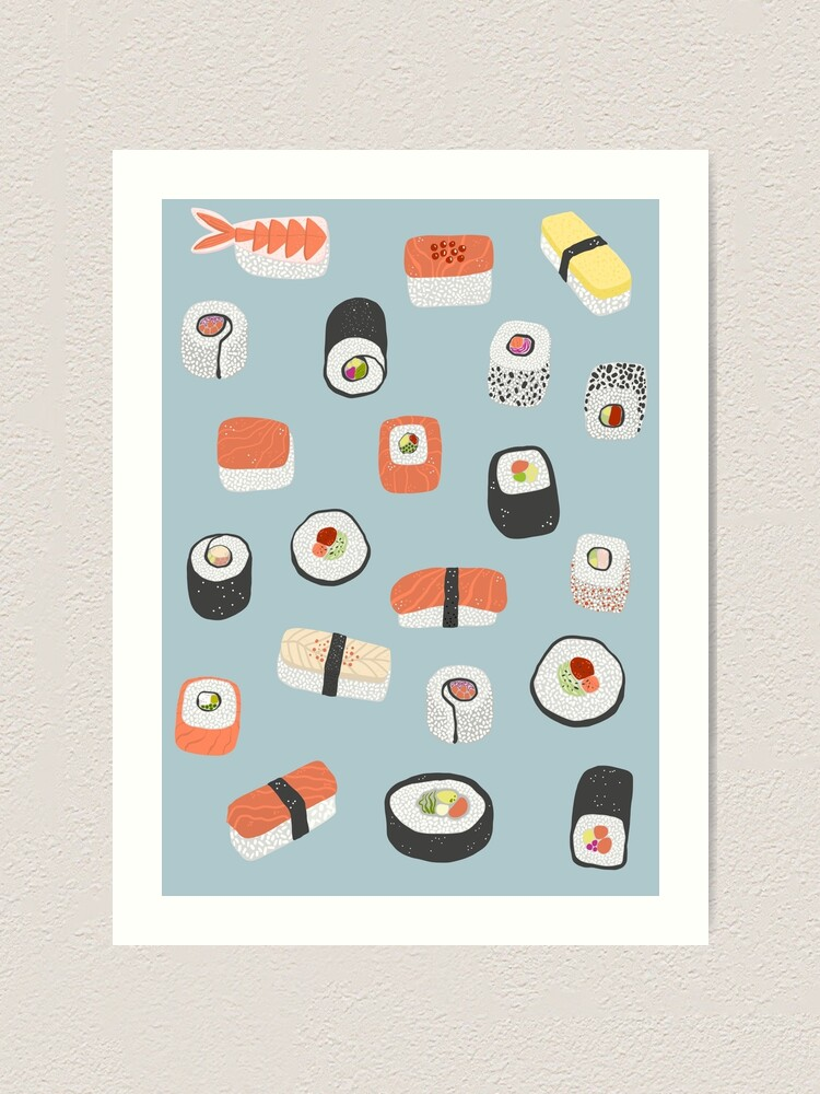 Alternate view of Sushi Roll Maki Nigiri Japanese Food Art Art Print