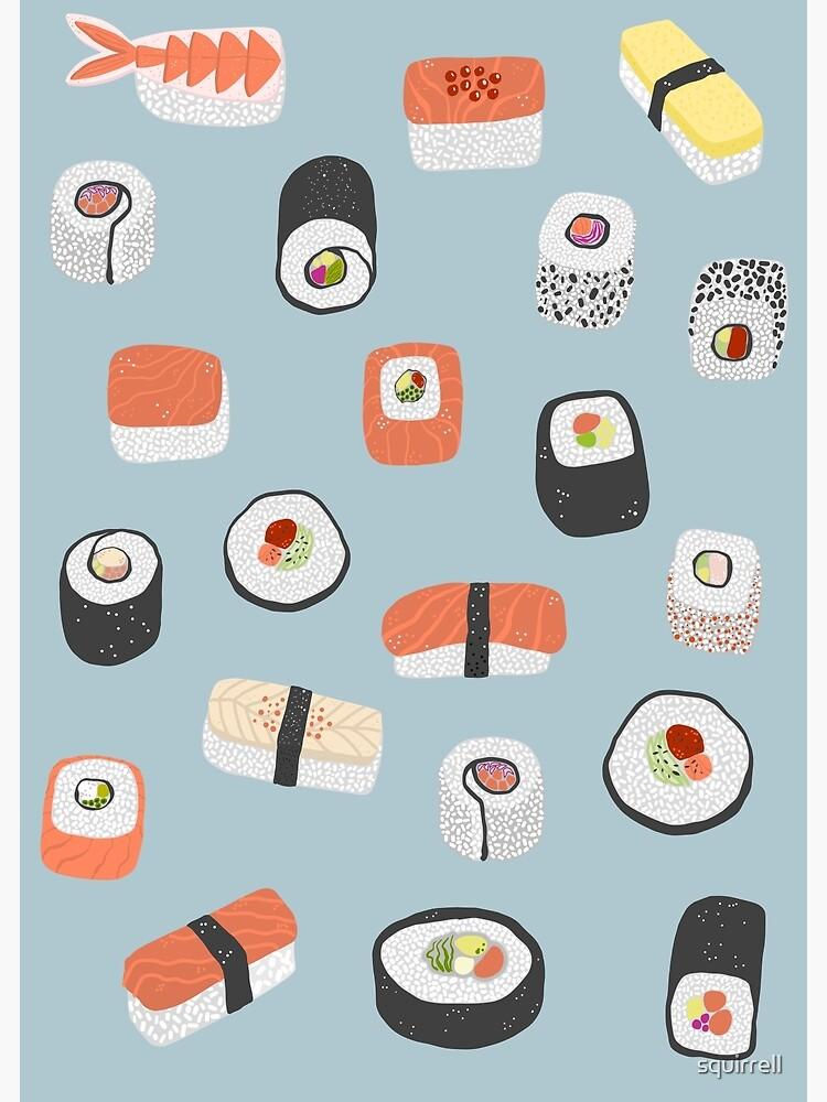 Sushi Roll Maki Nigiri Japanese Food Art by squirrell