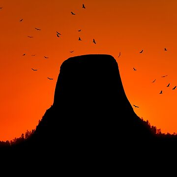Sunset over Devils Tower .2 by alex4444
