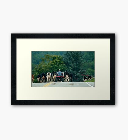 vermont state road.... Framed Print