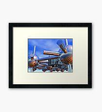 Modular City Framed Print