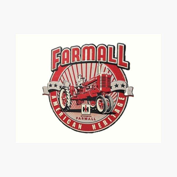 American Heritage FARMALL Tractors Vintage,Farmers Art Print