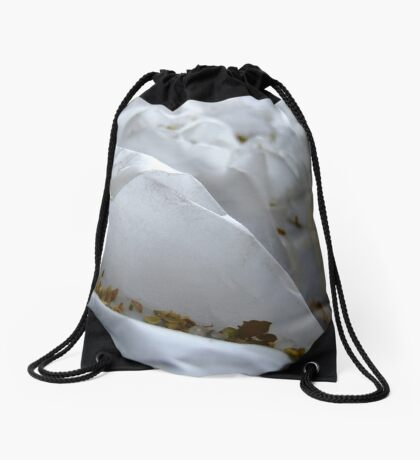 Autumn in icy mountains Drawstring Bag