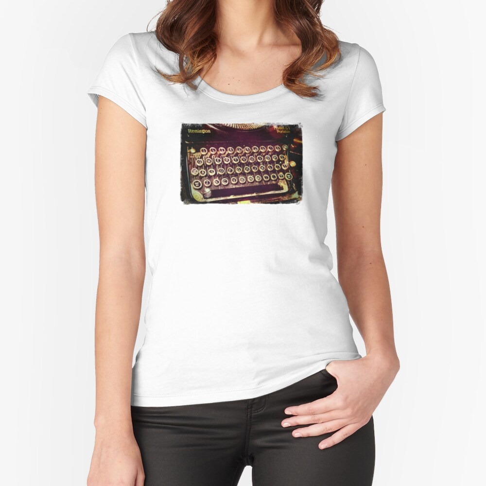 Enigma - Typewriter IV Fitted Scoop T-Shirt