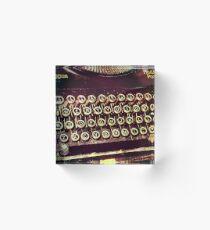 Enigma - Typewriter IV Acrylic Block