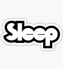 black and white sleep band Sticker