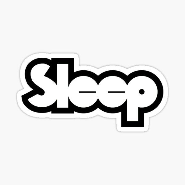 black and white sleep band Sticker