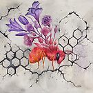 Bee on Concrete, Watercolor Painting by Stephanie KILGAST