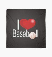 I Love Baseball Funny Graphic Art T Shirt  Scarf
