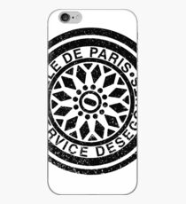 Paris Manhole Cover Print - Industrial Street Art iPhone Case