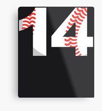 Number 14 Baseball #14 Metal Print