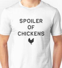 Chicken Design Spoiler Of Dark Lady Funny Gift Farm Girl Unisex T-Shirt