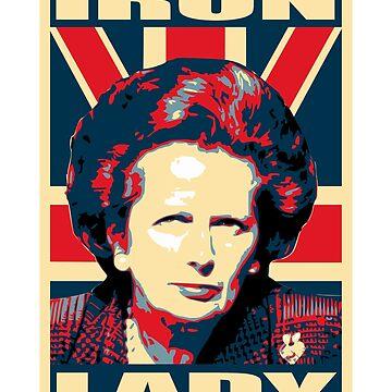 Iron Lady Propaganda Poster Pop Art by idaspark