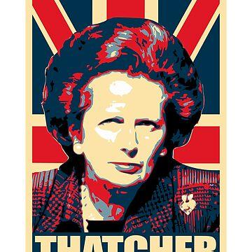 Margaret Thatcher Propaganda Poster Pop by idaspark