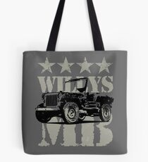 Military Vehicle Willys MB Classic Car Lover Gift Shirt Tote Bag