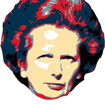 Margaret Thatcher Pop Art T-Shirt by idaspark