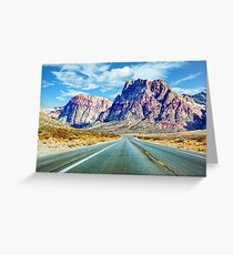 Road Toward Mountains Greeting Card