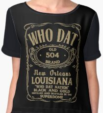Who Dat Nation Chiffon Top
