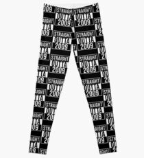 Straight Outta 2009 Classic 2009 - Made In 2009 Born In 2009 Gift Leggings