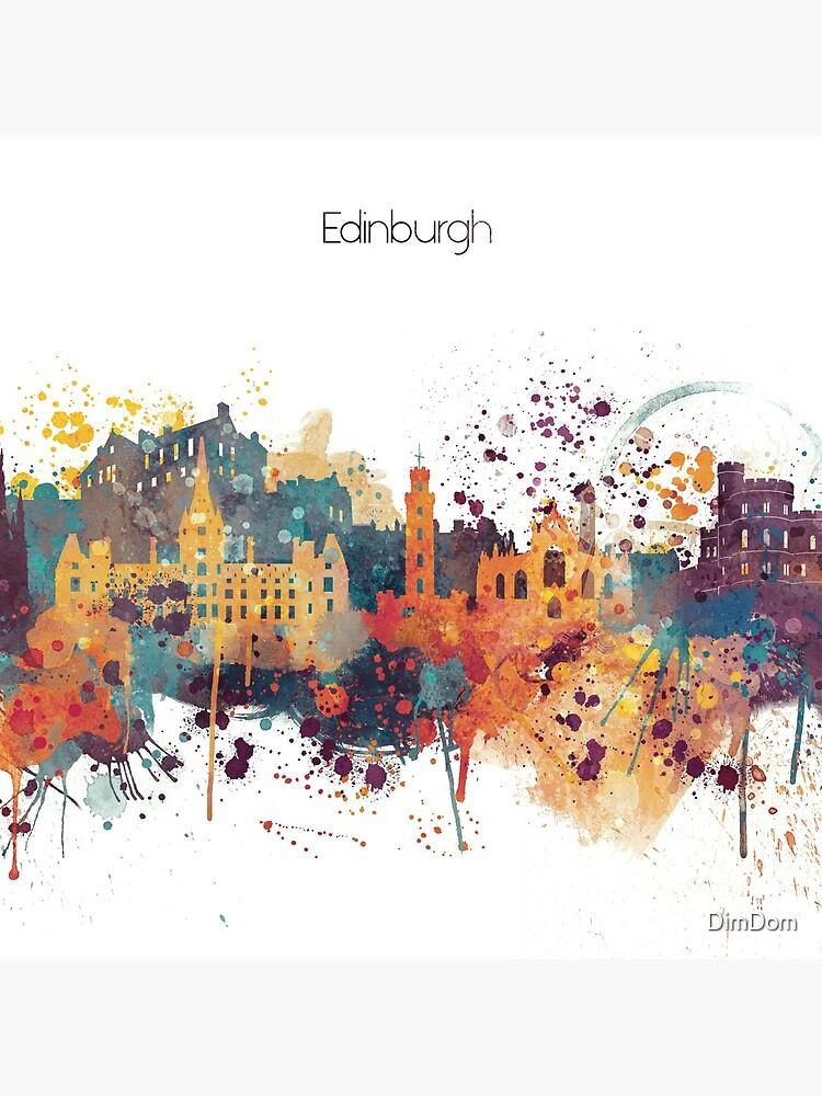 Edinburgh Watercolour Skyline by DimDom