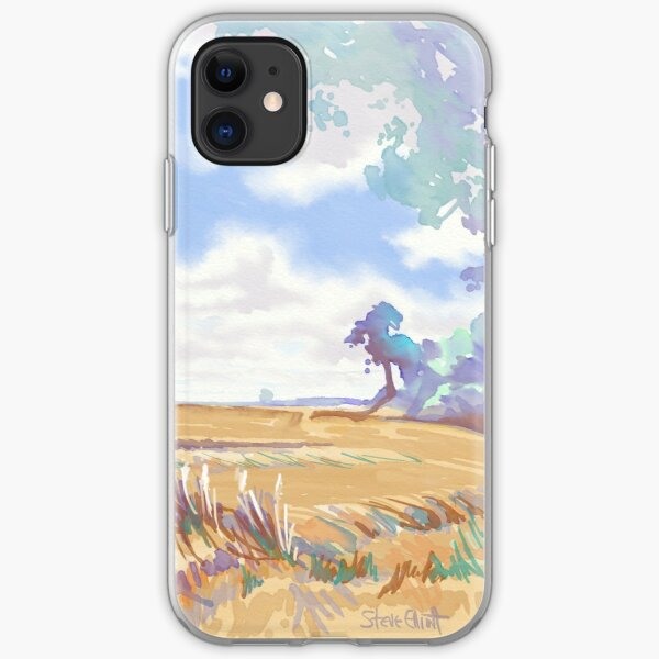 Hayfield on a Sunny Day iPhone Soft Case