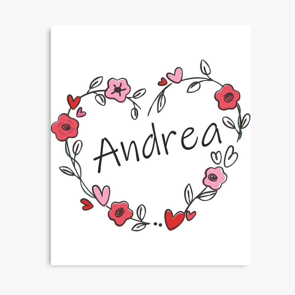 Cojín Mi Nombre Es Andrea De Oleo79 Redbubble