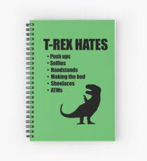 Cuaderno de espiral T-Rex odia la lista de balas