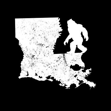 Bigfoot Sasquatch Sighted In State Of Louisiana Shirt Gear by DynamicDesign