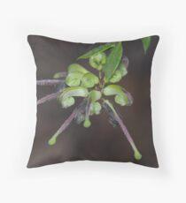 Green Spider Flower Throw Pillow