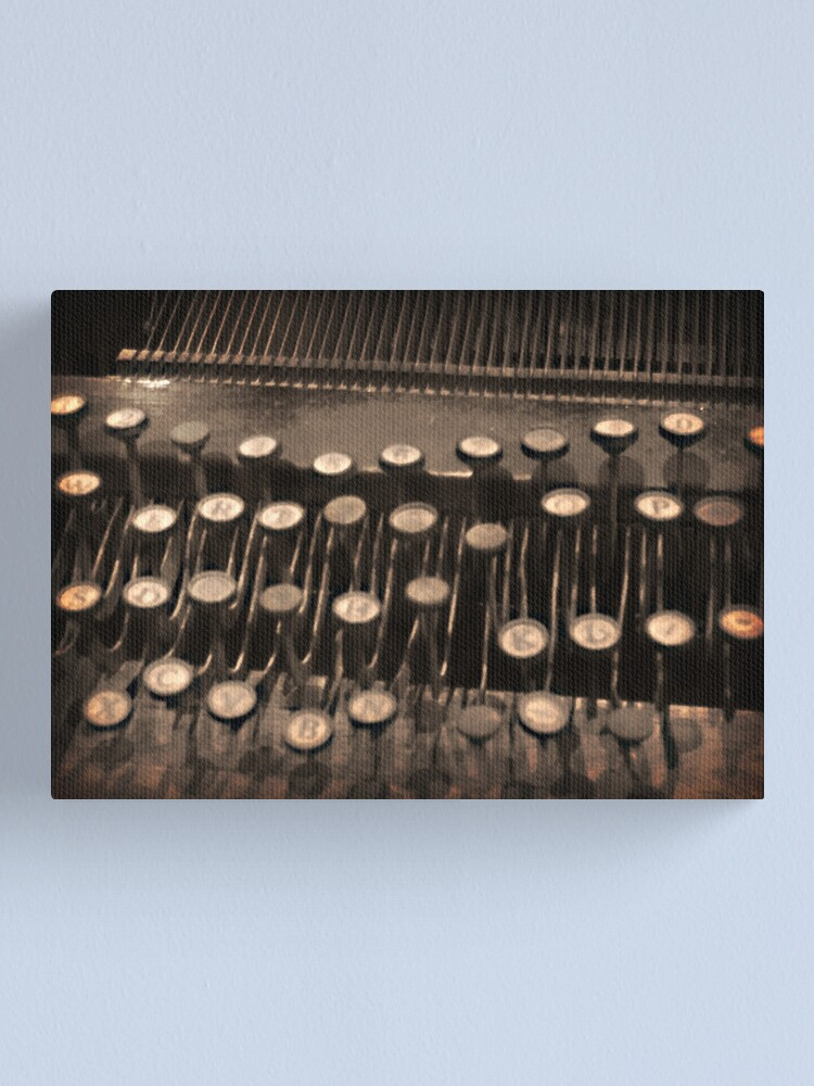 Alternate view of Typewriting Canvas Print
