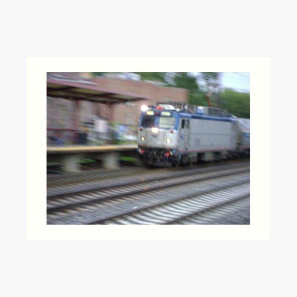 Amtrak at speed  Art Print