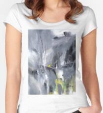 Waterfall Abstract Women's Fitted Scoop T-Shirt