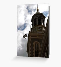 Cow in tower tradition Greeting Card