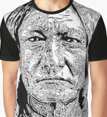 Sitting Bull Portrait - Native Indian Graphic T-Shirt