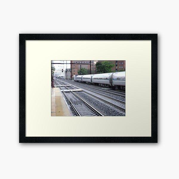 Amtrak at speed continued Framed Art Print