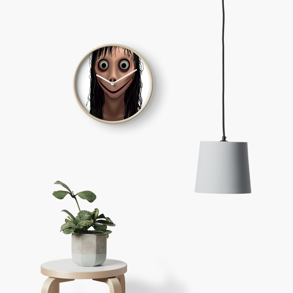 Momo. Demon of Whatsapp.  Clock