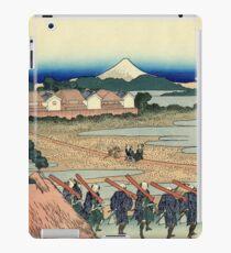 Pleasure District at Senju - Katsushika Hokusai iPad Case/Skin