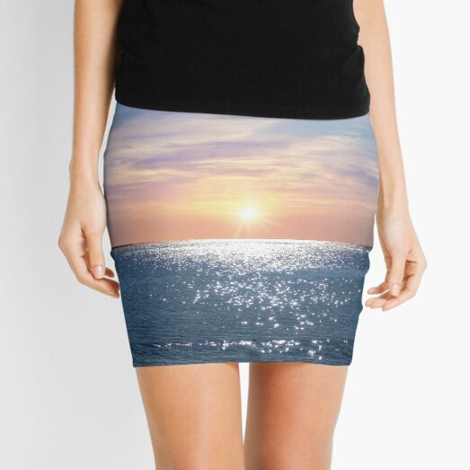 Sunny Morning At The Red Sea Mini Skirt