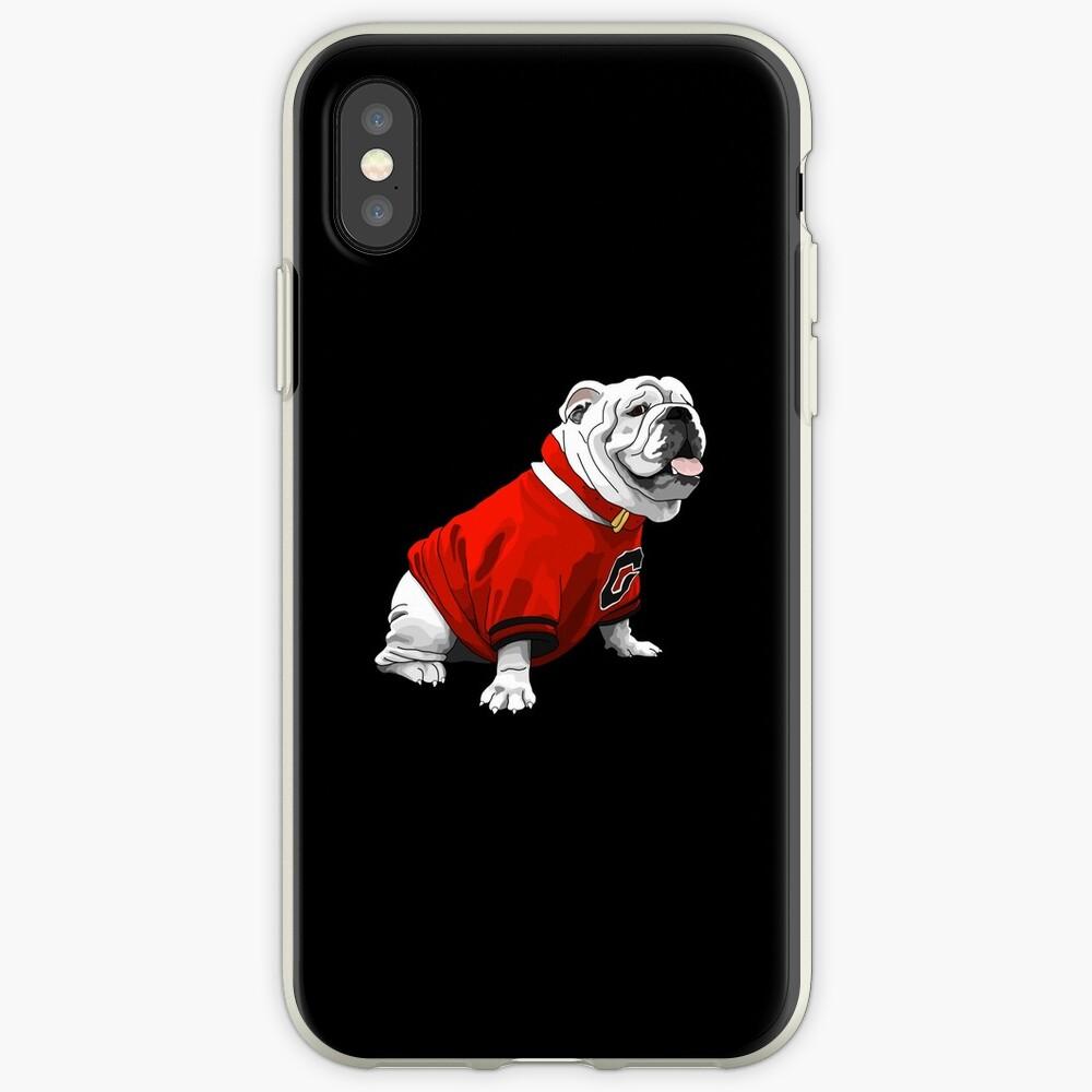 Bulldog UGA Vinilos y fundas para iPhone