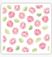 Watercolor Grapefruit and Limes Sticker