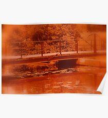 Swing Bridge On Sankey Valley  Canal Poster