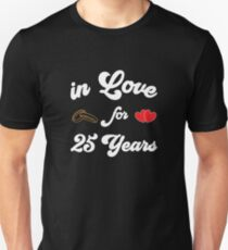 T-Shirt silver wedding anniversary - married for 25 years - marriage Unisex T-Shirt